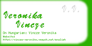 veronika vincze business card